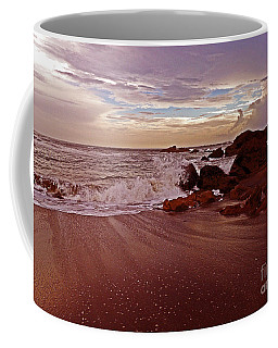 Waves Break Hands Shake Coffee Mug by Lydia Holly