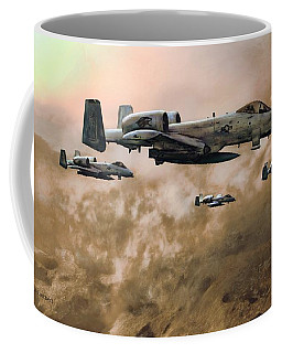 Coffee Mug featuring the painting Waypoint Alpha - Outline by Dave Luebbert