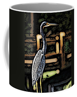 Coffee Mug featuring the digital art Wc Great Blue by David Lane