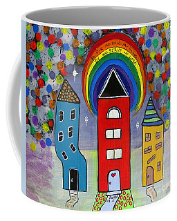 We Choose To Serve - Original Whimsical Folk Art Painting Coffee Mug