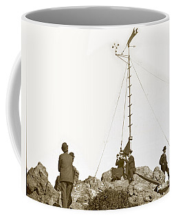 Coffee Mug featuring the photograph Weather Station Mount Tamalpais Marin County California Circa 1902 by California Views Mr Pat Hathaway Archives