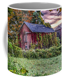 Weathered Connecticut Barn Coffee Mug by John Vose