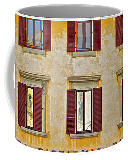 Weathered Windows Of Cortona Coffee Mug