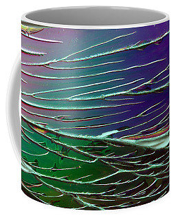 Webs Of Green And Purple Coffee Mug