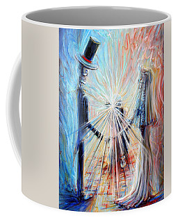 Coffee Mug featuring the painting Wedding Photographer by Heather Calderon