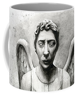 Weeping Angel Don't Blink Doctor Who Fan Art Coffee Mug