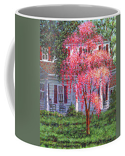 Weeping Cherry By The Veranda Coffee Mug