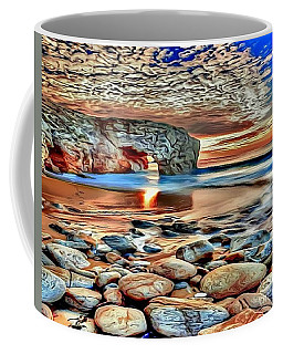 Coffee Mug featuring the painting Weighed In Stone by Catherine Lott