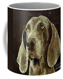Coffee Mug featuring the painting Weimaraner Dog by Dragica  Micki Fortuna