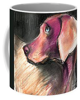 Weimaraner Dog Painting Coffee Mug