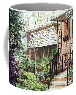 Coffee Mug featuring the painting Welcome Home by Barbara Jewell