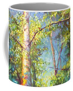 Welcome Home - Birch And Aspen Trees Coffee Mug