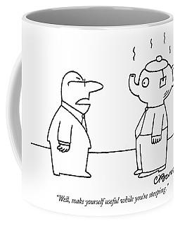 Well, Make Yourself Useful While You're Steeping Coffee Mug