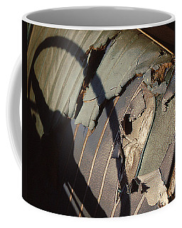 Coffee Mug featuring the photograph Well Worn Seat by Christopher McKenzie
