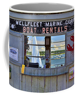 Wellfleet Harbor Thru The Window Coffee Mug