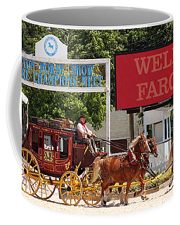 Coffee Mug featuring the photograph Wells Fargo At Devon by Alice Gipson