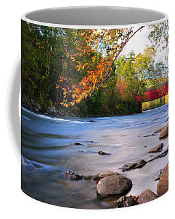 West Cornwall Covered Bridge- Autumn  Coffee Mug