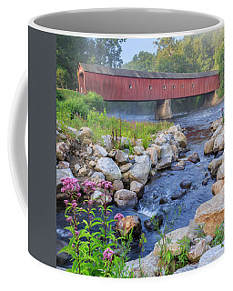 West Cornwall Covered Bridge Square Coffee Mug