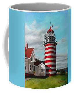 West Quoddy Head Lighthouse Coffee Mug by Eileen Patten Oliver