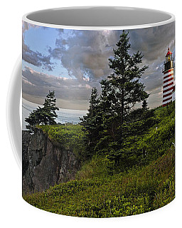 West Quoddy Head Lighthouse Panorama Coffee Mug by Marty Saccone