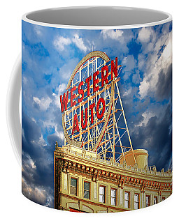 Western Auto Sign Downtown Kansas City Coffee Mug