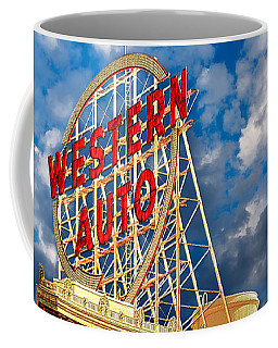 Western Auto Sign Downtown Kansas City Coffee Mug