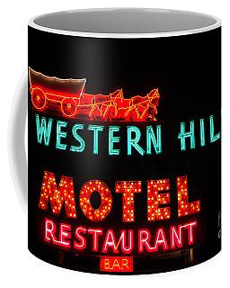 Western Hills Motel Sign Coffee Mug