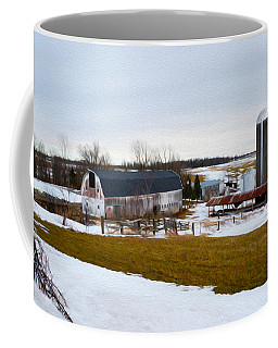 Western New York Farm As An Oil Painting Coffee Mug