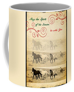 Western Themed Christmas Card Wyoming Spirit Coffee Mug