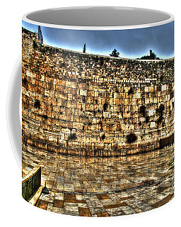 Coffee Mug featuring the photograph Western Wall In Israel by Doc Braham