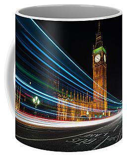 Westminster Light Trails Coffee Mug by Matt Malloy