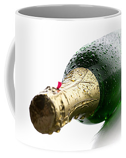 Wet Champagne Bottle Coffee Mug