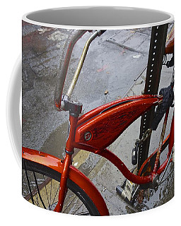 Wet Orange Bike   Nyc Coffee Mug
