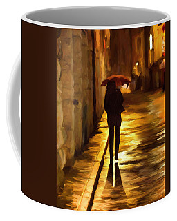 Wet Rainy Night Coffee Mug