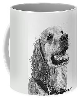 Wet Smiling Golden Retriever Shane Coffee Mug by Kate Sumners