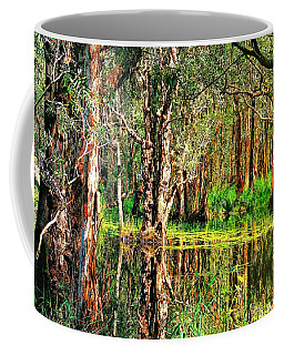 Coffee Mug featuring the photograph Wetland Reflections by Wallaroo Images