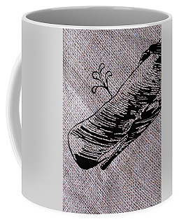 Whale On Burlap Coffee Mug