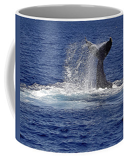 Coffee Mug featuring the photograph Whale Tale Splash by Penny Lisowski