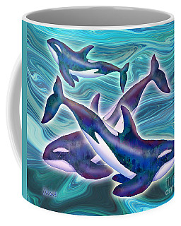 Coffee Mug featuring the mixed media Whale Whimsey by Teresa Ascone