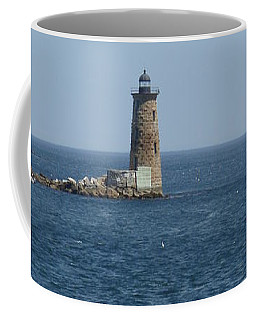 Whaleback Lighthouse Coffee Mug by Robert Nickologianis