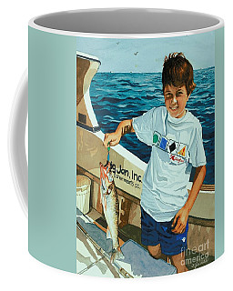 Coffee Mug featuring the painting What A Catch by Barbara Jewell
