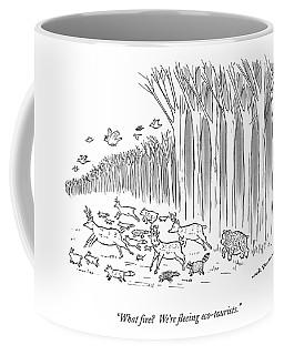 What Fire?  We're Fleeing Eco-tourists Coffee Mug