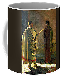 What Is Truth    Christ And Pilate Coffee Mug
