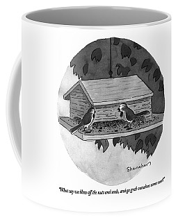 What Say We Blow Off The Nuts And Seeds Coffee Mug