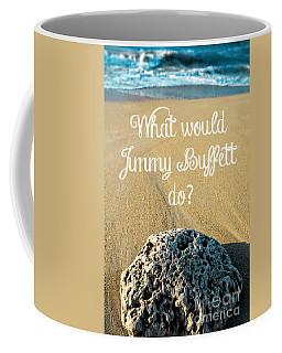 What Would Jimmy Buffett Do Coffee Mug by Edward Fielding