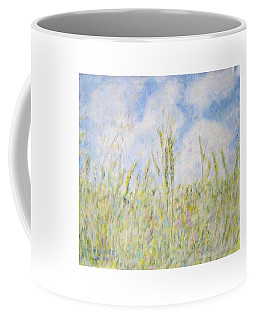 Wheat Field And Wildflowers Coffee Mug