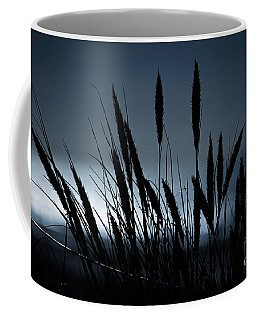 Coffee Mug featuring the photograph Wheat Stalks On A Dune At Moonlight by Nick  Biemans