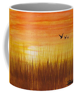 Wheatfield At Sunset Coffee Mug