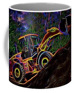 Wheel Loader Moving Dirt - Neon Coffee Mug