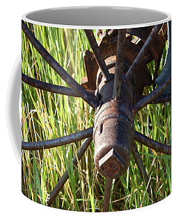 Coffee Mug featuring the photograph Wheel by Mim White
